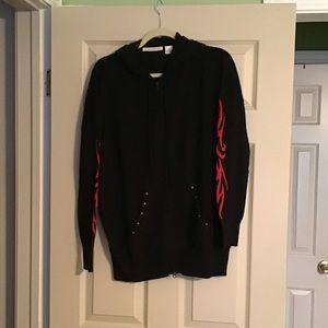 Autumn Cashmere zip up hoodie sweater